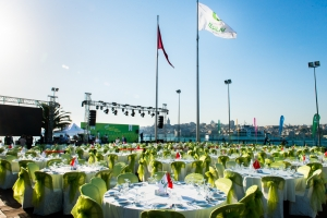 The iftar meal organized by Turkish Green Crescent at Sepetciler Pavilion; istanbul; 2014